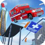 不可能特技救护车房顶上跳下