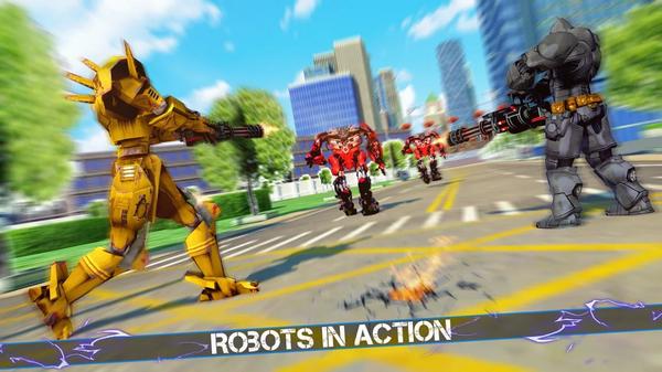 大型机器人汽车犯罪战斗模拟器游戏下载