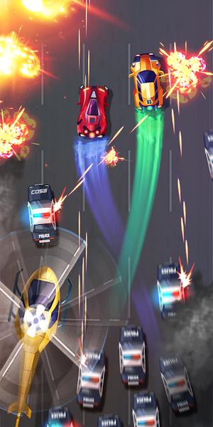 快速战斗机竞速报仇无限钻石版游戏非常的特别,因为在这款快速战斗机竞速报仇无限钻石版游戏中采用的战斗射击的玩法,但和以往大家玩过的战斗射击游戏不一样的是,在这款游戏中你将驾驶自己的赛车来进行射击,一边感受刺激的驾驶乐趣,一边还可以去享受射击带来的畅快感,一路狂飙利用各种武器来进行操作,摆脱警车的追捕。游戏在画面的打造上是非常精致的,因为采用的是最顶级游戏引擎进行打造,给你高清的游戏画面。
