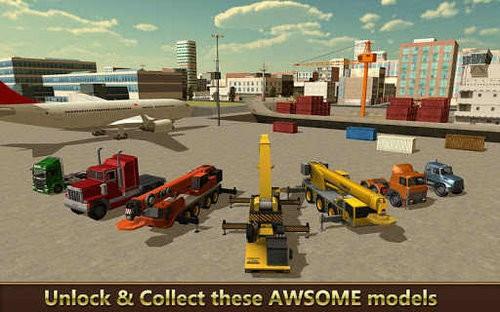 货船起重机城市建设模拟