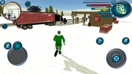 圣诞老人绳索英雄模拟器无限金币版