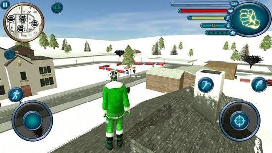 圣诞老人绳索英雄模拟器破解版