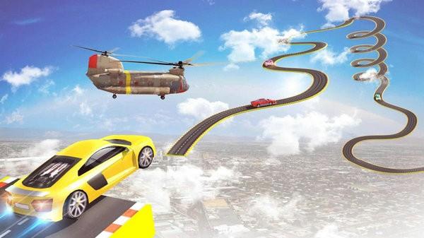 超级斜坡汽车特技赛车游戏下载最新版