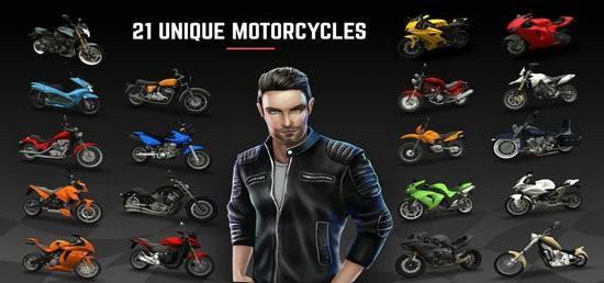 赛车狂热摩托免费无限货币版