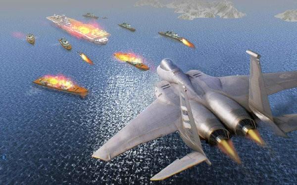 战斗机空袭炮舰之战游戏下载