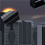 模拟灾难破坏真实城市
