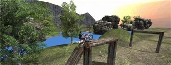 摩托车斜坡疯狂特技