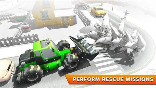 抢雪挖掘机3D模拟破解版下载